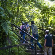 Subiendo a las Cataratas de Ahuashiyacu