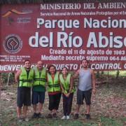 Letrero Parque Nacional del Rio Abiseo
