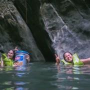 Turistas en el agua